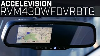 Wireless Video Mirroring - RVM430WFDVRBTG Rearview Mirror Monitor