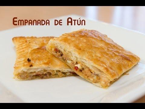 Empanada de Atun de Hojaldre con Pimiento Huevo y Cebolla