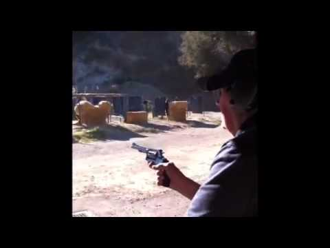 91 year old grandfather shooting a magnum