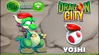 """Dragon City - Yoshi """"Jumping Dragon"""" [Video Game Island - Full Unlock 2017]"""