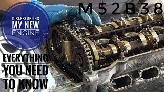 TAKING APPART MY NEW M52 ENGINE FULLY DETAILED HOW TO  VIDEO!