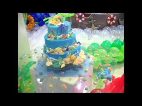 Balões e Arte Festa Fundo do Mar