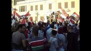 ميدان التحرير ظهر اليوم 26 يوليو ومظاهرات تأييد وتفويض الفريق اول عبد الفتاح السيسي ضد الارهاب