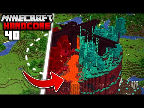 I Transformed the OVERWORLD into the NETHER in Minecraft Hardcore 40