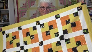 One Block and Some Sashing Quilt