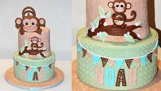 Cake decorating tutorials | how to make a MONKEY CAKE | Sugarella Sweets