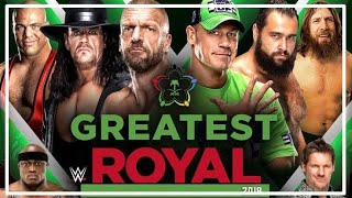 WWE GREATEST ROYAL RUMBLE 2018 - ANÁLISIS PICANTE