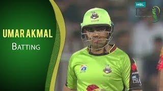 PSL 2017 Match 14: Lahore Qalandars vs Islamabad United - Umar Akmal Batting