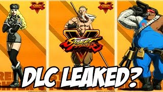 Street Fighter 5: NEW DLC Characters Leaked? - Street Fighter V Season 2 Possible DLC Characters