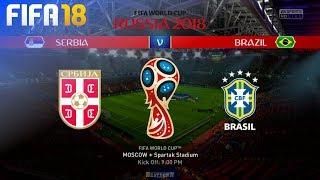 FIFA 18 World Cup - Serbia vs. Brazil @ Spartak Stadium (Group E)