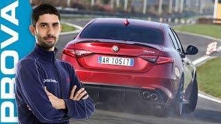 Alfa Romeo Giulia Quadrifoglio | La prova in pista [ENGLISH sub]