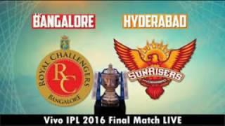 Live Final Match   RCB VS SRH   Gayle 8 sixes    vivo ipl 2016