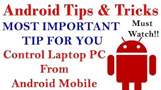 Amazing Android Tips & Tricks - Control your Computer With Android (HINDI) Must Watch!!