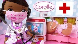 Popo Hospital Ambulance Corolle Mon Premier Baby doll sick Docteur la Peluche