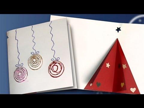 Haz una postal de navidad con un rbol en 3d manualidades for Manualidades navidenas para ninos