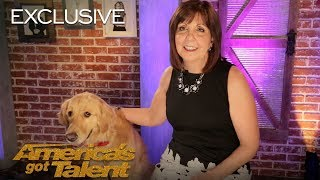 Oscar And Pam Bring AGT Their First Singing Dog - America