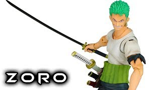 Variable Action Heroes RORONOA ZORO Past Blue One Piece Action Figure Toy Review