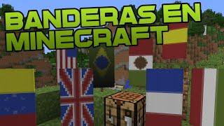 COMO HACER BANDERAS EN MINECRAFT - Tutorial de Minecraft