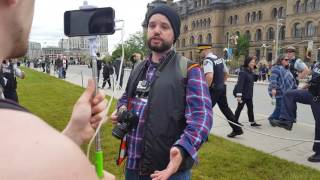 Canadians troll 'Fake News' reporter Kevin Metcalf at Parliament Hill