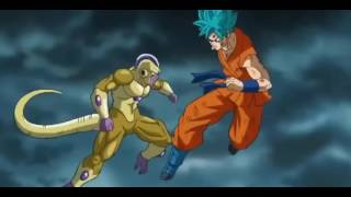 Dragon Ball Z Resurrection F -- SSGSS Goku Vs Golden Frieza