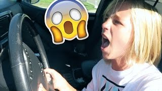MY LITTLE BROTHER CRASHED MY DADS CAR!