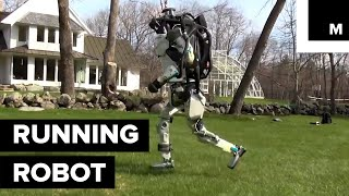 Watch Boston Dynamics' Atlas Go for a Run in the Woods