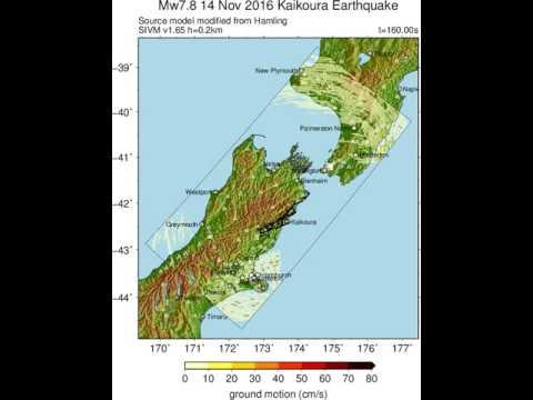 Ground motion simulation of 14 November 2016 Mw7.8 Kaikoura, New Zealand earthquake