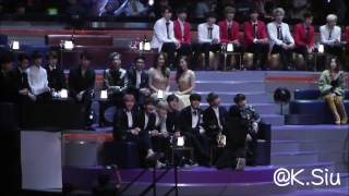 [FANCAM] 161202 2016 MAMA BTS's Reaction to Gallant