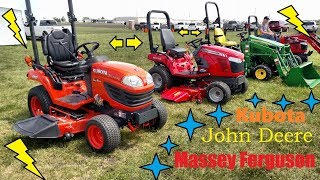 Kubota, John Deere or Massey Ferguson - Sub-Compact Tractors