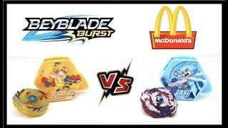 Beyblade Burst Battle FREE Vs LUI Mcdonald's Toy Toupies Spintop Battle Hasbro Fast Food Toys