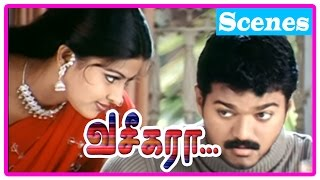 Vaseegara Tamil Movie | Scenes | Sneha asks Vijay to marry her | Sneha warns Vijay