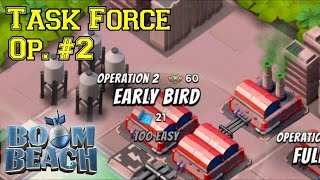 Task Force Operation #2: Early Bird CO-OP!▐ Boom Beach Task Force Attack Strategies