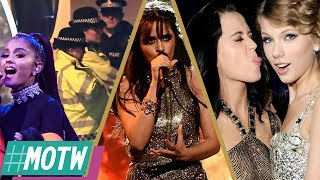 Ariana Grande Concert Update, Camila Cabello's BBMAs Breakout, Katy vs Taylor Feud Heats Up -MOTW
