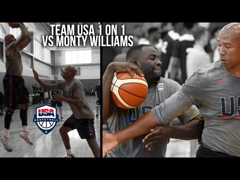 watch Team USA 1 on 1VS Monty Williams   KD, Carmelo, Draymond, Paul George, & Derozan