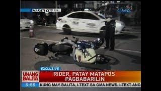 UB: Rider, patay matapos pagbabarilin