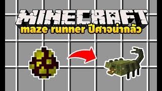 มายคราฟ แมลงปอ 10 ตา น่ากลัวเวอร์!!! [มอด Maze Runner Mod] Minecraft