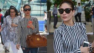 Kareena Kapoor Spotted At Airport With Mom Babita