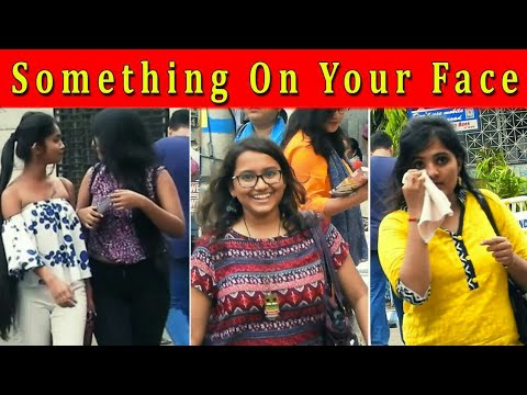 SOMETHING ON YOUR FACE PRANK ON CUTE GIRLS | EXTREME FUNNY REACTION | Ft. Prank Central Tv