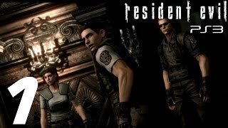 Resident Evil HD Remaster (PS3) - Chris Walkthrough Part 1 - The Mansion