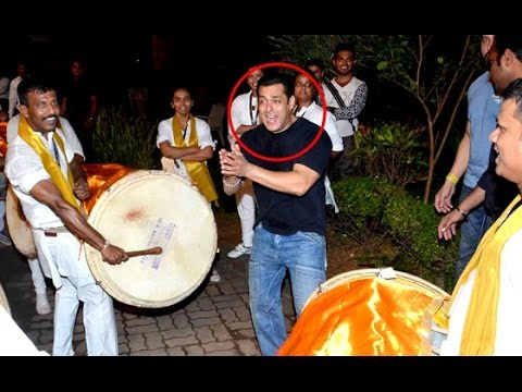 Salman Khan Ganpati Visarjan Dance 2016