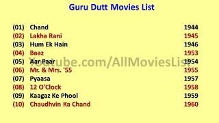 Guru Dutt Movies List
