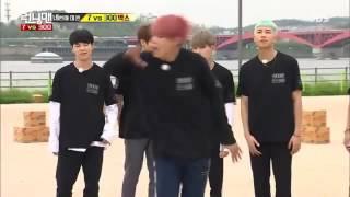 [CUT] Running Man Ep 300 - BTS TaeHyung Fire Dance