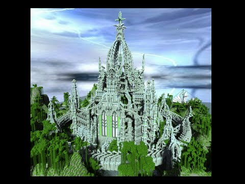 Xxx Mp4 Minecraft Cinematic Elves Tower Minecraft Building With Custom Landscape Tree Download Map 3gp Sex