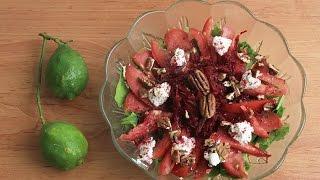 سلطة الجرجير و الشمندر \Watercress and beetroot salad - سهل و سريع \ Easy and fast