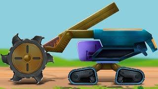 Kids TV Channel | Excavator | vehicle assembly  | Futuristic Vehicles | Educational Video