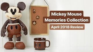 Mickey Mouse Memories Collection | Review #4 April 2018 | Disney Store Plush, Pins, Mug
