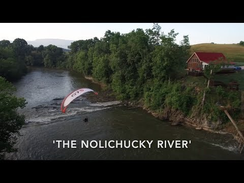Flying the Nolichucky River, East Tennessee, Paramotor Style