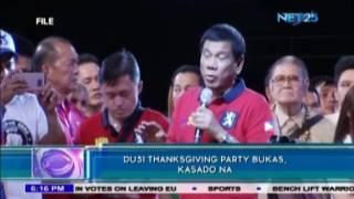 PNP deploys thousands for Duterte's Thanksgiving Party
