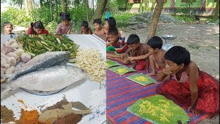 Hilsa/Elish Fish Hodgepodge Cooking For Kids Picnic / Prepared By Children / Tasty Village Food