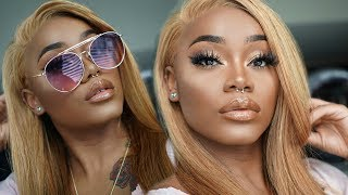 GRWM: Hair and Makeup | My HONEY BLONDE hair 🍯 + My go-to everyday makeup look | Yolissa